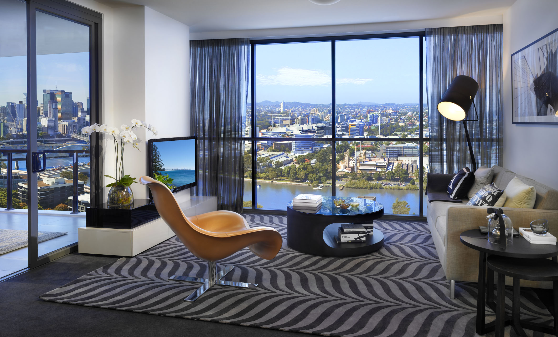 Living Room With Brisbane Views