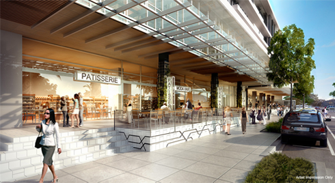 Milton proximity to shops and dining - render