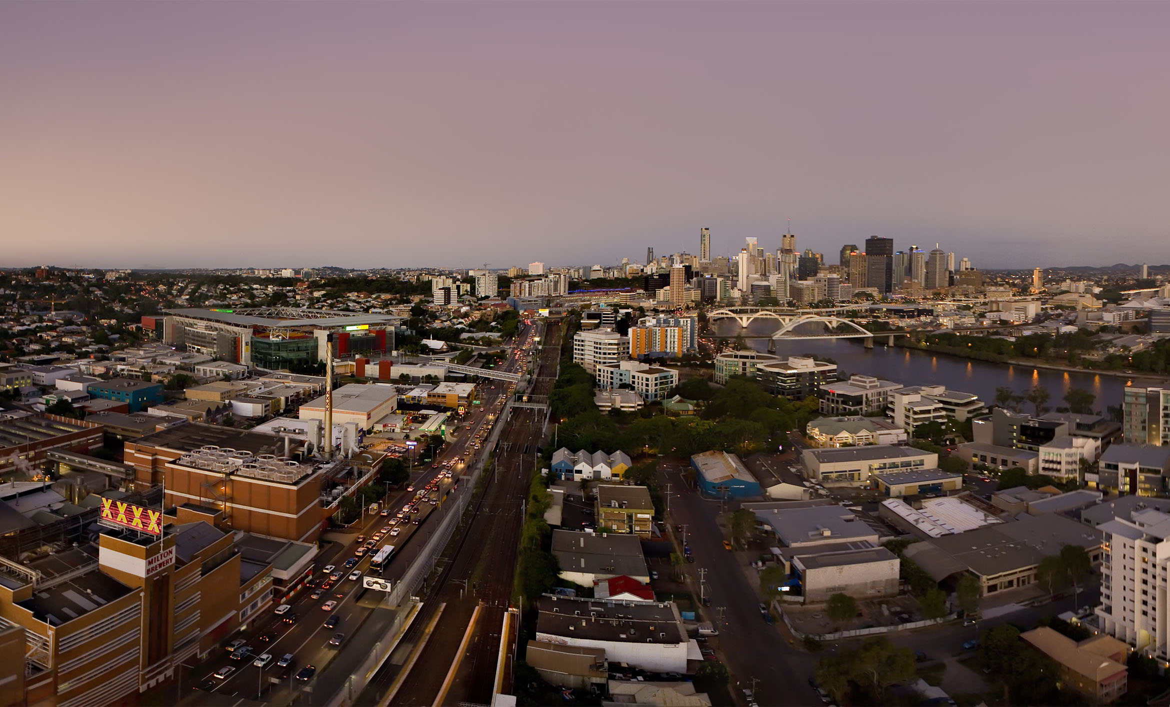 Brisbane View From Observation Deck